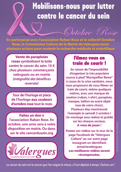 Affiche Octobre rose 2020